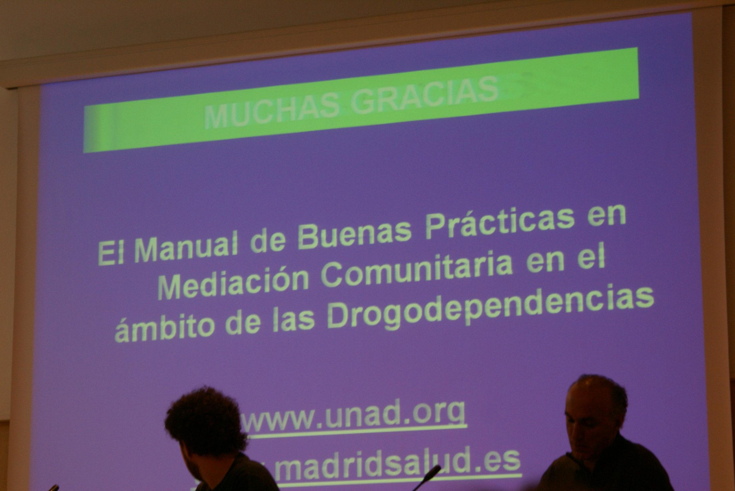 UNAD presento en Barcelona el Manual de Buenas Prácticas en mediación comunitaria en drogodependencias